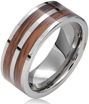 Bling-Jewelry-Doble-Madera-y-tungsteno-Boda-Banda