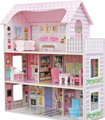 Star- Casa de Muñecas con Familia y Mobiliario