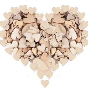 Corazones de madera 300 piezas