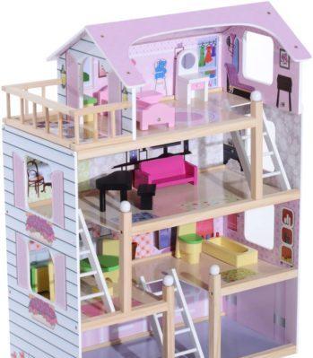 homcom-casa-de-muñecas-con-muebles