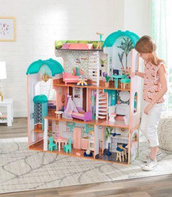 kidkraft-casa-de-muñecas-de-madera-con-muebles