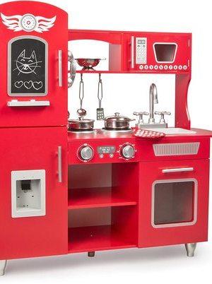 Leomark cocina de madera roja