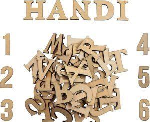 Letras y numeros de madera