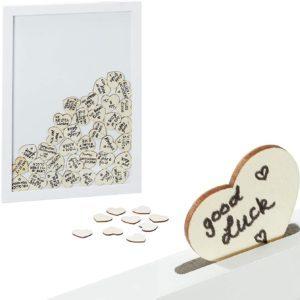 Libro de visitas boda corazon de madera