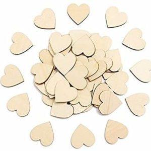 Pixno blanco corazon de madera