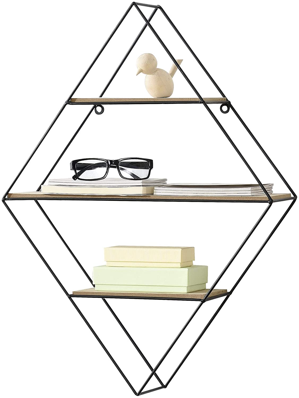 estante-de-pared-diseño-moderno-negro-y-madera